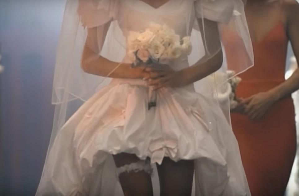 anni novanta vestito da sposa stephanie seymour